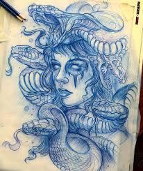медуза горгона подборка эскизов из сети