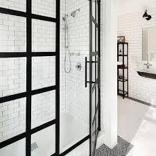 black steel frame shower enclosure