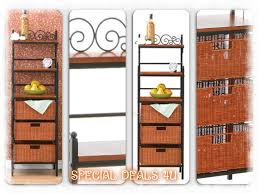 Kitchen Storage Shelves Bakers Rack Wood Metal Kitchen Storage Shelves Basket Drawers