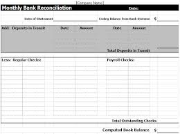excel reconciliation template bank reconciliation template in excel