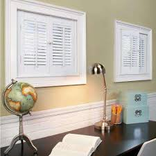 traditional faux wood white interior shutter varies by size