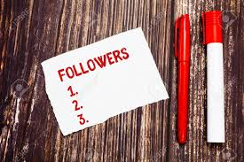 Handwriting Text Followers Concept Meaning Demonstrating Who