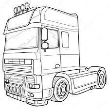 Vrachtwagen Tekening Scania Blanco Kleurplaat Vor Kinderen 2019