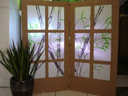 Diy Room Screen Cardboard Shoji Screen Room Partition 7 Steps With Pictures