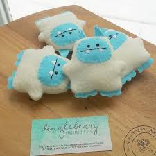 abominable snowman yeti monster catnip cat toy by dingleberrypets