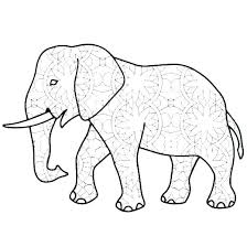 Coloring Pages African Elephant Coloring Page How To Draw Pages