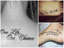 Frasi Sulla Vita Per Tatuaggi Foto Bellezza Pourfemme
