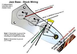 rothstein guitars bull serious tone for the serious player bass diagrams bullstandard jazz bass wiring 2 independent volume controls a master tone