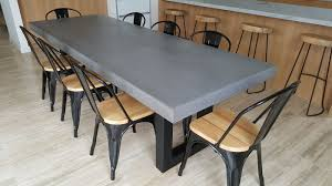 concrete look dining table sydney room ideas inside kitchen design within cement designs 5
