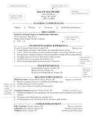 Prepossessing Maths Teacher Resume Format Download In Resume