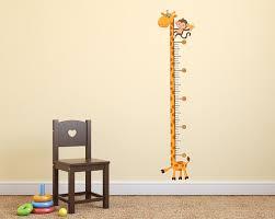 Giraffe Growth Chart Wall Decal Giraffe Nursery Kids Bedroom