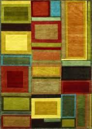 iridescent block multi color area rug texture and threshold