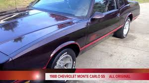 1988 chevy monte carlo ss all original - YouTube