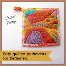 Easy quilted potholders - kitchen sewing series - So Sew Easy & How to make easy quilted potholders. Great beginner project and love the  free-form Adamdwight.com