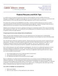How To Write A Resume For A Federal Job Ksa Examples For Federal Jobs Resume Template 24 21