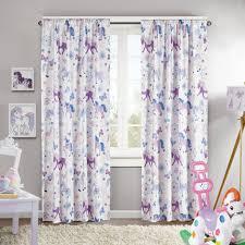 girl bedroom blackout curtains toddler little purple ruffle unbelievable design ideas
