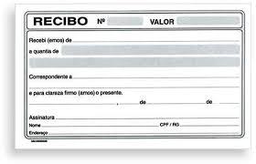 Modelo De Recibo Exemplo Recibo De Pagamento Para Imprimir