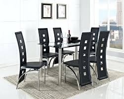 black glass dining table 6 chairs black wooden based dining room table glass dining table set