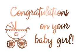 Foil Card Congratulations On Your Baby Girl