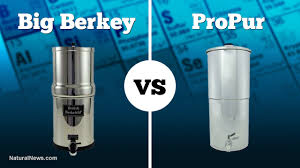 Big Berkey Beats Propur Gravity Water Filter For Removal Of