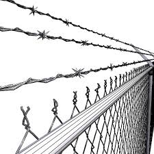 barbed wire fence drawing. Chainlink Fence Barbed Wire High Detail 3d Model Max Obj Fbx Mtl Mat 8 Drawing