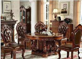 modern style marble dining table solid wood round dining room table and chairs dining room table
