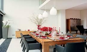 casual dining room lighting round gold elegant copper table elegant black drum shade pendant lamp rectangular teak wooden display cabinet blue soft fabric