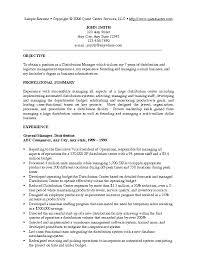 Examples Of Management Resumes Resume Letter Directory