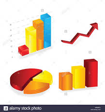 3d Chart Vector A Colorful 3d Chart Graph High Resolution Render Stock