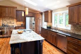 dark cabinets white countertop contemporary kitchen with