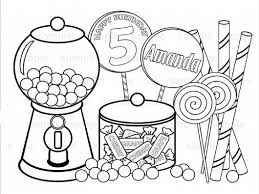 Coloring Page : Candy Coloring Page Free Pages For Kids All About ...