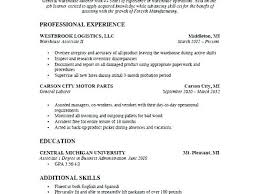 Warehouse Worker Resume Resume Bank
