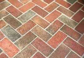 interior brick grouted and cleanded