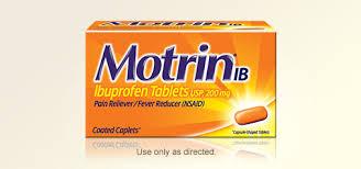 Ibuprofen Adult Dosing Chart Motrin Products