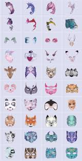 animal face painting clipart