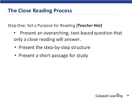 close reading and the common core the close reading process the close reading process 19 20
