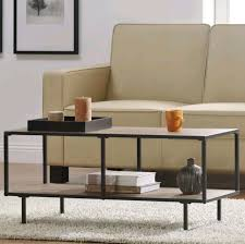 industrial style coffee table metal wooden furniture vintage room storage shelf