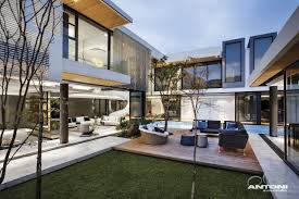 modern home architecture interior. Terrace And Modern Facade In South Africa Home Architecture Interior