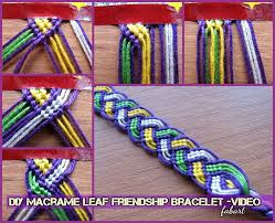 Friendship Bracelet Patterns Magnificent DIY Macrame Leaf Friendship Bracelet Tutorial Video