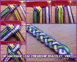 diy macrame leaf friendship bracelet tutorial