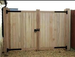 Wood Fence Gates Plans Fence Double Gate Design Double Door Wooden
