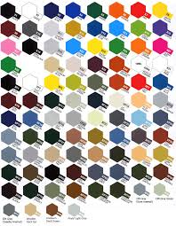 Tamiya Ps Paint Chart Color Chart Tamiya Modeling
