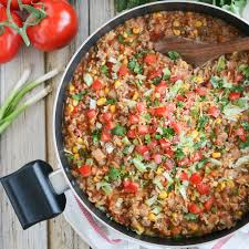 healthy quick easy dinner for two. a fun, easy way to shake up the typical taco night! this mexican rice healthy quick dinner for two