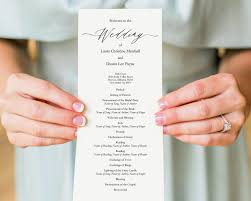 Wedding Program DIY Wedding Programs Wedding Templates And Printables 8