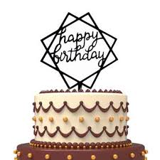 Birthday Cake Topper Square Hb 2 Colors Party Decorations
