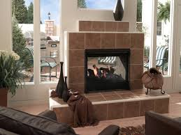 indoor outdoor fireplace see thru home design ideas