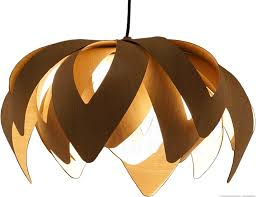 tulip pendant light in wood mike vanbelleghem passion 4 wood small