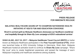 Malaysia Healthcare Gears Up To Champion Nationwide Health Awesome Message For My Healthcare And Love