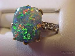antique black opal and diamond ring tiffany co