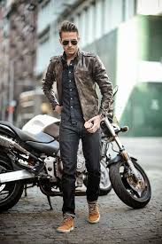 the brown leather jacket